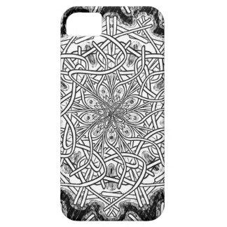 Mandala blanco y negro funda para iPhone SE/5/5s