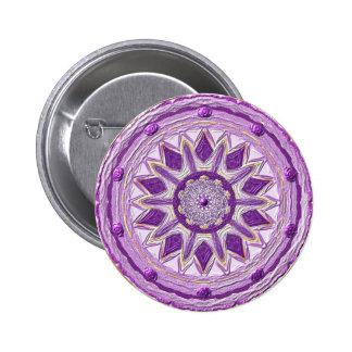 "Mandala Button ""Violeta 2 "" Pins"