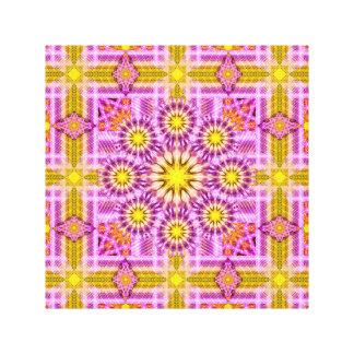 Mandala celestial de la matriz impresión en lienzo