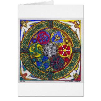 Mandala céltica 1: Resurrección (tarjeta) Tarjeta