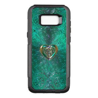Mandala céltica del corazón en oro verde funda otterbox commuter para samsung galaxy s8+