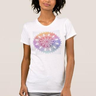 Mandala colorida camiseta
