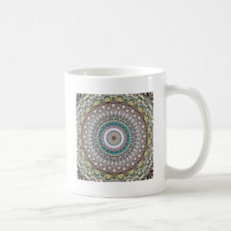 Mandala colorida del caleidoscopio taza de café