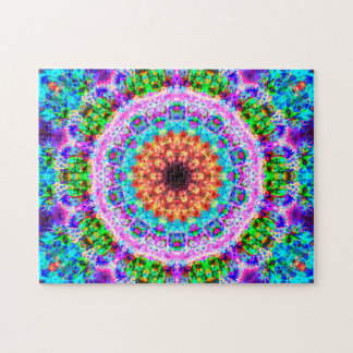 Mandala colorida el   que se relaja puzzle