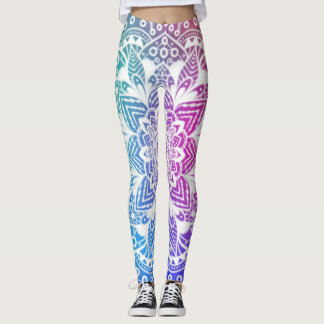 Mandala colorida leggings