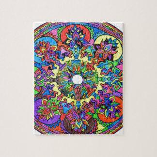 Mandala colorida puzzle
