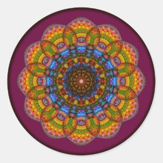 Mandala de 12 ojos pegatina redonda