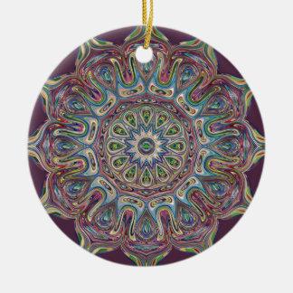 Mandala de cerámica del ornamento del círculo