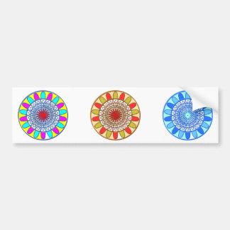 Mandala de Chakra del GIRASOL Pegatina Para Coche