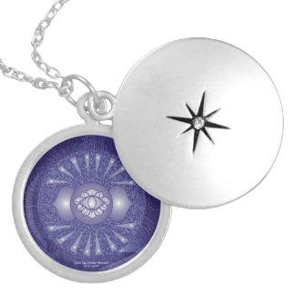 Mandala de Chakra del tercer ojo Collar Con Colgante