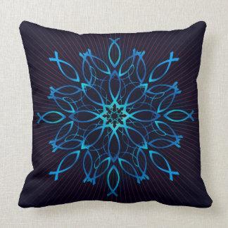 Mandala de Ichthus Cojín Decorativo