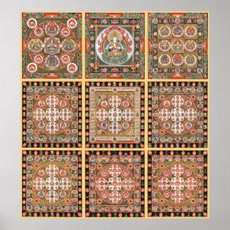 Mandala de Kongokai Posters