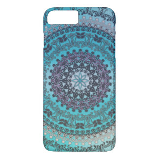 Mandala de la aguamarina funda iPhone 7 plus