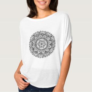 Mandala de la flor con la semilla de la vida camisetas