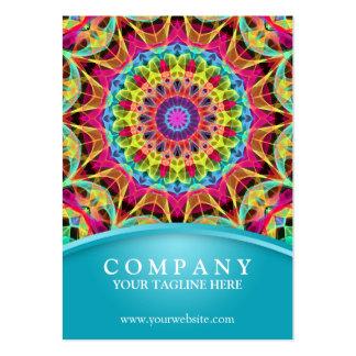 Mandala de la flor de la energía - azul rechoncho tarjetas de visita grandes