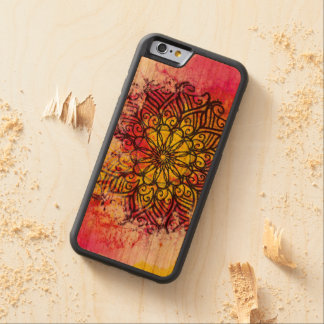Mandala de la integridad funda protectora de cerezo para iPhone 6 de carved