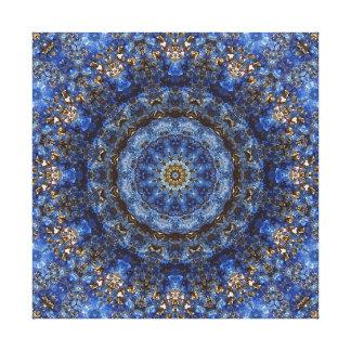 """""""Mandala de la lamina del lapislázuli"""" Impresión En Lienzo"""