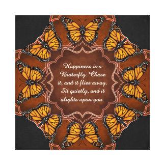 Mandala de la mariposa de monarca lienzo