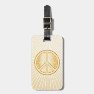 Mandala de la paz etiqueta para maletas