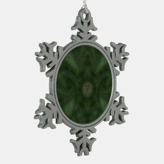 Mandala de la polilla de Luna Adorno De Peltre En Forma De Copo De Nieve