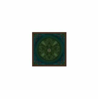 Mandala de la polilla de Luna Adorno Fotoescultura