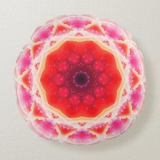 Mandala de la torta de la fresa cojín redondo