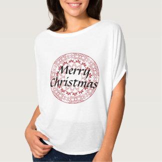 Mandala de las Felices Navidad Camiseta
