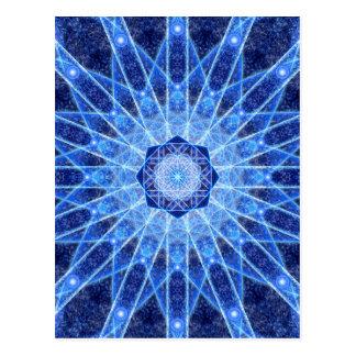Mandala de Lotus del hielo Postal