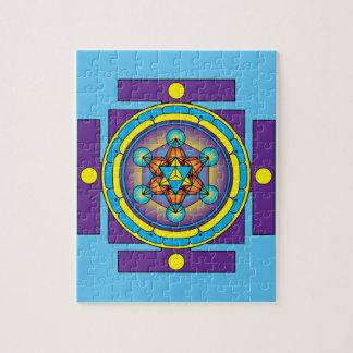 Mandala de Merkaba del cubo de Metatron Puzzle