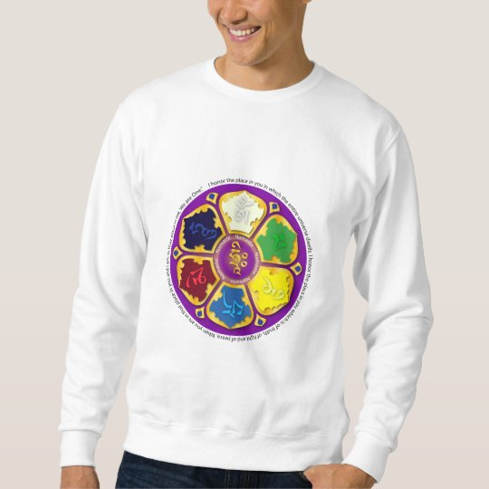Mandala de Namaste - púrpura Sudadera