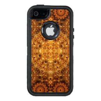Mandala de oro de la armadura funda OtterBox defender para iPhone 5