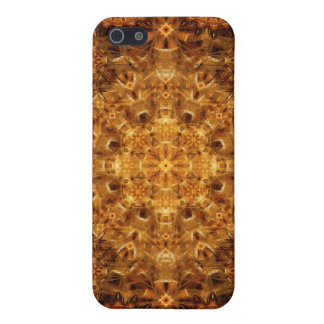 Mandala de oro de la armadura iPhone 5 cárcasa