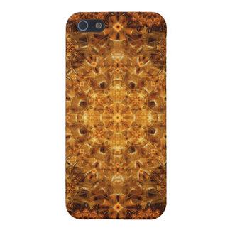 Mandala de oro de la armadura iPhone 5 protector