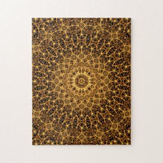 Mandala de oro del ojo puzzle