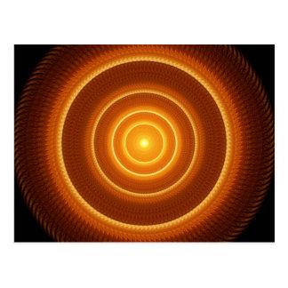Mandala de oro del pulso postal