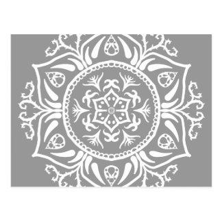 Mandala de piedra postal
