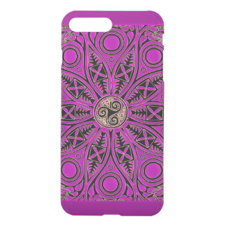 Mandala de Triskele del Celtic de las rosas Funda Para iPhone 8 Plus/7 Plus