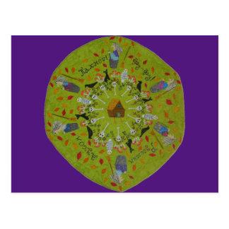 Mandala de Yaga del bizcocho borracho Postal