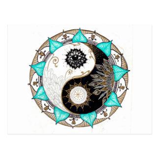 Mandala de Yin Yang Postal