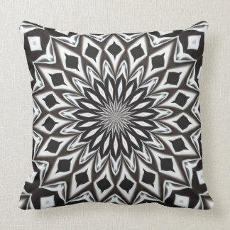 mandala decorativa blanco y negro cojn decorativo