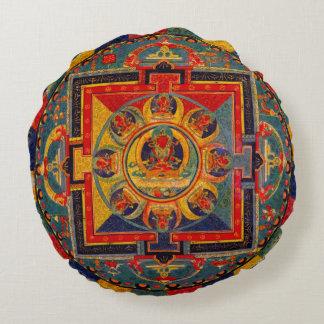 Mandala decorativa del arte del indie cojín redondo