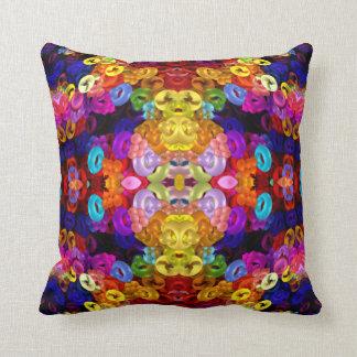 Mandala del Amarillo-Ángel-Insecto Cojín Decorativo