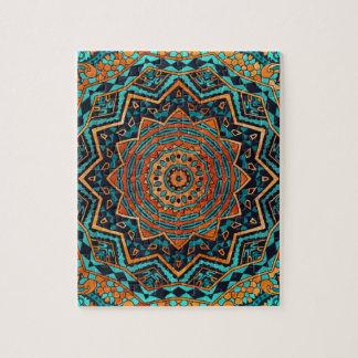 Mandala del azul y del oro puzzle