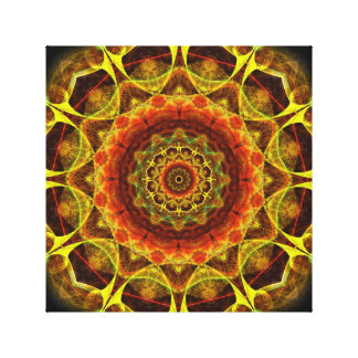 Mandala del botón del oro impresión en lienzo