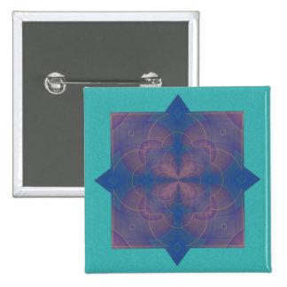 Mandala del caleidoscopio de Violeta Chapa Cuadrada 5 Cm