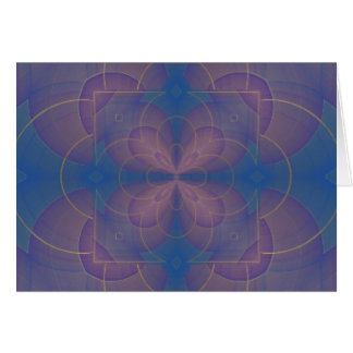 Mandala del caleidoscopio de Violeta Tarjeta Pequeña