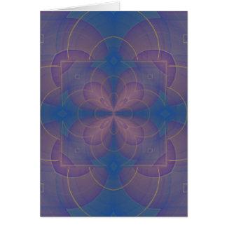 Mandala del caleidoscopio de Violeta Tarjeta De Felicitación