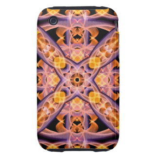 Mandala del calor funda resistente para iPhone 3