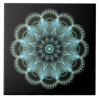 Mandala del fractal azulejo cuadrado grande