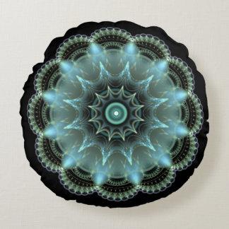 Mandala del fractal cojín redondo